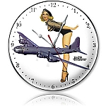 B-29 Bomber Metal Clock