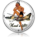 Need A Lift Metal Clock