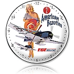 American Beauties Metal Clock