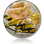 Lightning Gold Metal Clock