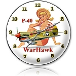 P-40 Warhawk Metal Clock