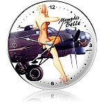 Memphis Belle Metal Clock
