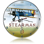 Stearman Metal Clock