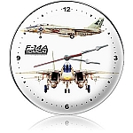 F-14 Tomcat Metal Clock
