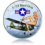 L-19 Bird Dog Metal Clock