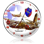B-26 Widow Maker Metal Clock