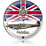 Spitfire Union Jack Metal Clock