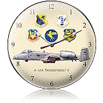 A-10A Thunderbolt II Metal Clock