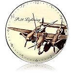 P-38 Drawing Metal Clock