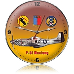 P-51 Fighter Metal Clock