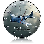 SBD-5 Dauntless Metal Clock