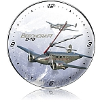 D-18 Beechcraft Metal Clock