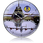 B-17 And B-24 Metal Clock