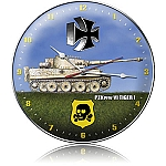 Tiger 1 Metal Clock
