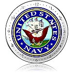 US Navy Metal Clock