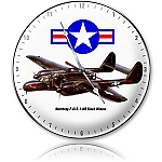 Northrop Black Widow Metal Clock