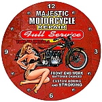 Majestic Moto Metal Clock