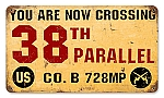 38th Parallel Vintage Metal Sign