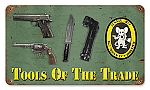 Tools of the Trade Vintage Metal Sign