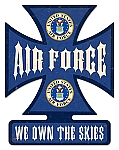 Air Force Cross Vintage Metal Sign