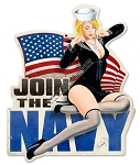 Join The Navy Pinup Vintage Metal Sign
