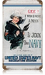 Join the Navy Vintage Metal Sign