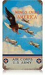 Wings Over America Vintage Metal Sign