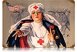 Army Nurse Vintage Metal Sign