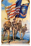Marine Color Guard Vintage Metal Sign