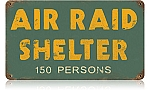 Air Raid Shelter Vintage Metal Sign