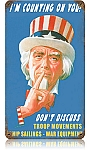 Uncle Sam Vintage Metal Sign