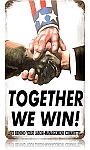 Together We Win Vintage Metal Sign