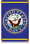 Navy Vintage Metal Sign