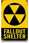Fallout Shelter Vintage Metal Sign