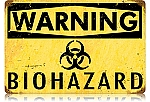 Biohazard Vintage Metal Sign