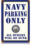 Navy Parking Vintage Metal Sign