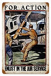 For Action Air Force Vintage Metal Sign