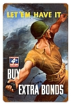 Buy War Bonds Vintage Metal Sign