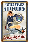US Air Force Pinup Girl Metal Sign