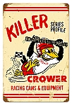 Killer Cower Racing Cams Vintage Metal Sign