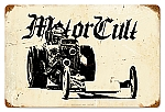 Motor Cult Drag Vintage Metal Sign