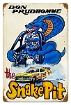 The Snake Pit Vintage Metal Sign
