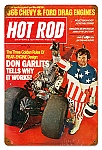 Hot Rod Magazine Garlits (May. 1971) Vintage Metal Sign