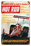 Hot Rod Magazine TV Tommy Ivo Metal Sign