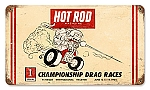 Hot Rod Riverside Vintage Metal Sign