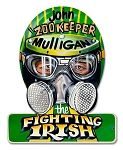 John Mulligan Fighting Irish Vintage Metal Sign