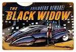 Black Widow Vintage Metal Sign