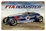 FIA Roadster Vintage Metal Sign