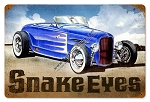 Snake Eyes Hot Rod Vintage Metal Sign