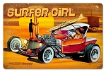 Surfer Girl Vintage Metal Sign